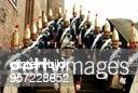 Mitglieder der Historischen Spandauer Stadtgarde eV' in nachgestalteten Uniformen der Preussischen Armee von 1750 auf dem Gelände der Zitadelle...