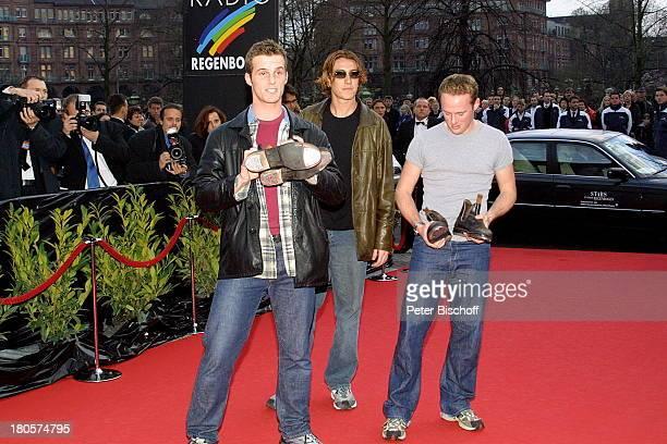 """Mitglieder der Tanzgruppe """"Tap Dogs"""",;Presse, Verleihung """"Radio Regenbogen;Award"""", """"Stars unterm Regenbogen"""",;Mannheim, """"Rosengarten"""", Medienpreis..."""