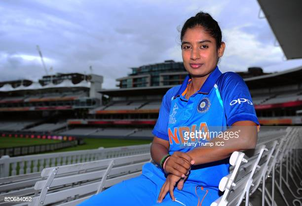 Mithali Raj Captain of India poses for a photo during the England v India Final ICC Women's World Cup 2017 Previews at Lord's Cricket Ground on July...