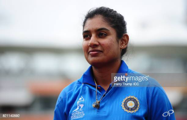 Mithali Raj of India during the ICC Women's World Cup 2017 Final between England and India at Lord's Cricket Ground on July 23 2017 in London England