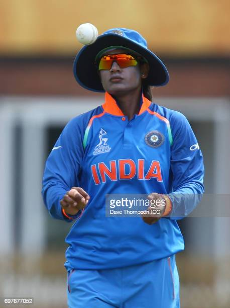 Mithali Raj of India during the ICC Women's World Cup warm up match between India and New Zealand at The County Ground on June 19 2017 in Derby...