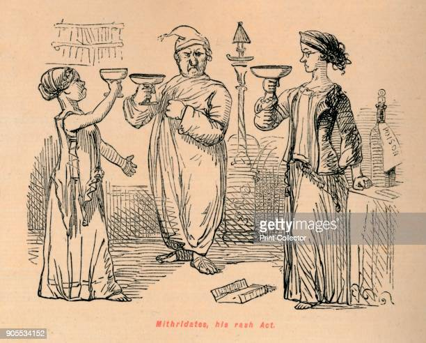 Mithridates his rash Act' 1852 From The Comic History of Rome by Gilbert A A'Beckett illustrated by John Leech [Bradbury Agnew Co London 1852] Artist...