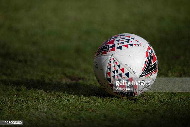 Mitre footballs prior to the Barclays FA Women's Super League match between Aston Villa Women and Reading Women at Bescot Stadium on January 23, 2021...