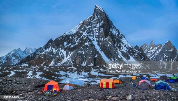 Mitre Peak, Concordia Campsite, K2 Base Camp Trek, Central Karakoram National Park, Gilgit-Baltistan, Pakistan