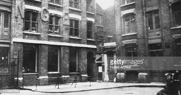 Mitre Square in the City of London with an arched passageway leading to St James's Passage circa 1928 It was here that prostitute Catherine Eddowes...