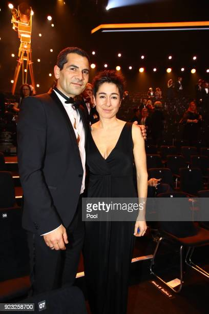 Mitri Sirin and Dunja Hayali appear on stage during the Goldene Kamera awards at Messehallen on February 22 2018 at the Messe Hamburg in Hamburg...