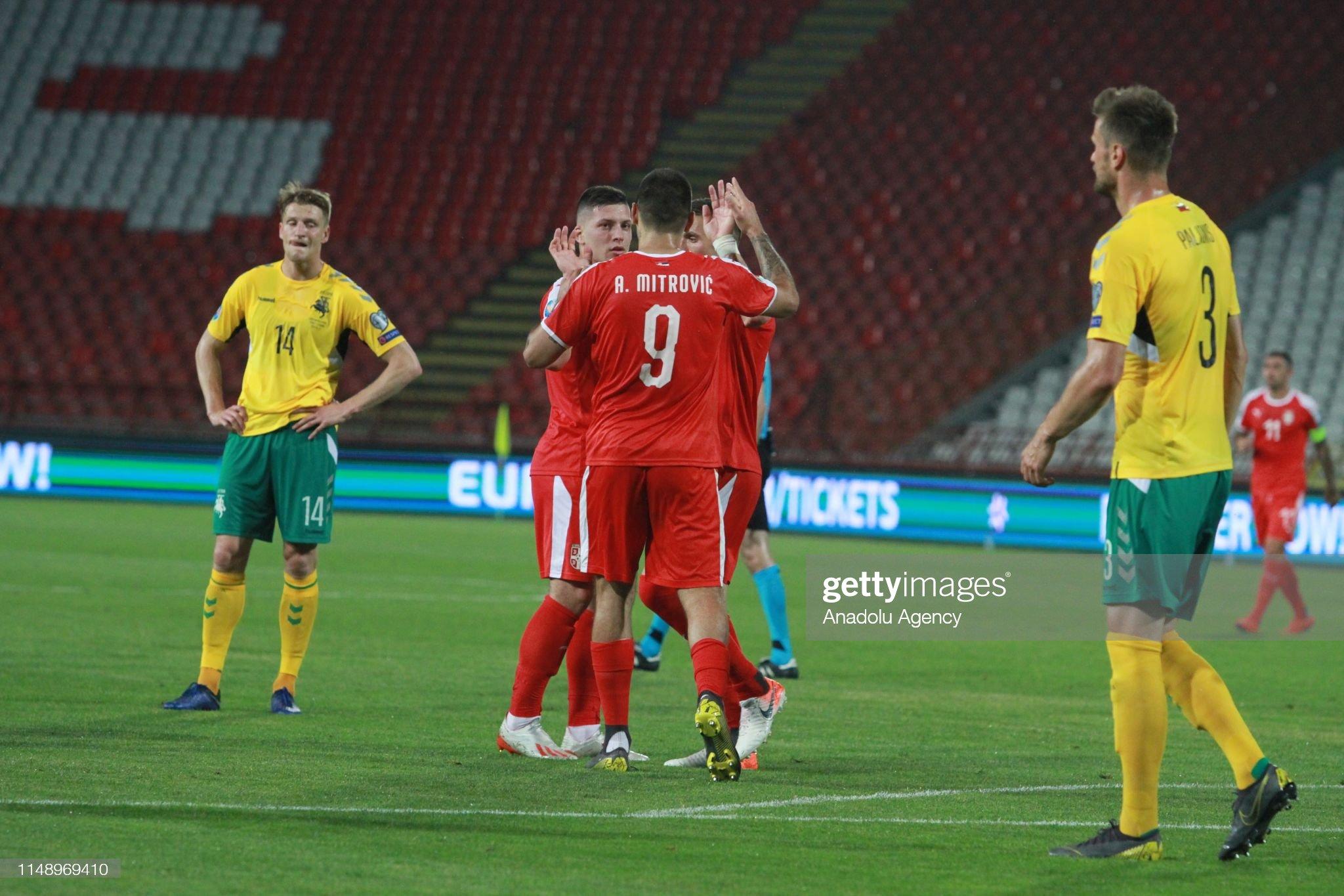Serbia vs Lithuania - UEFA EURO 2020 Qualifying :