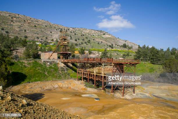 Mitsero old mine on March 01, 2019 in Nicosia, Cyprus. Mitsero old mine was in operation from 1973 -1979 end the product was exported from Cyprus by...