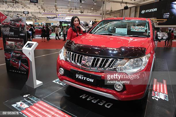 Mitsubishi All New Triton vehicle is seen at the Indonesia International Auto Show in Tangerang near Jakarta Indonesia August 19 2016