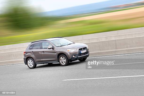 mitsubishi asx, high speed - mitsubishi group stock pictures, royalty-free photos & images