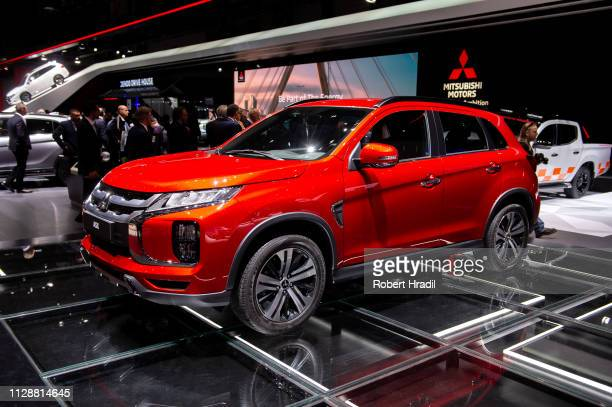 Mitsubishi ASX is displayed during the second press day at the 89th Geneva International Motor Show on March 5 2019 in Geneva Switzerland