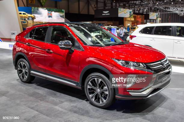 Mitsubishi Eclipse Cross is displayed at the 88th Geneva International Motor Show on March 7 2018 in Geneva Switzerland Global automakers are...