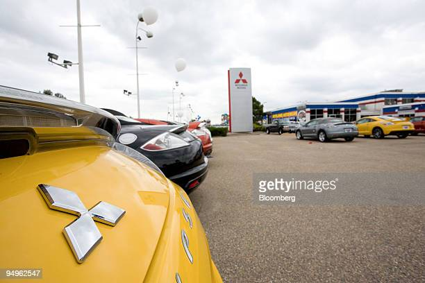 Mitsubishi Eclipse sits on display at Skyline Mitsubishi in Thornton Colorado US on Friday July 3 2009 Suzuki Motor Corp and Mitsubishi Motors Corp...