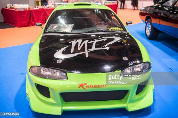 Mitsubishi Eclipse used onscren in The Fast and The Furious seen on Day 1 of the MCM London Comic Con at The ExCel on May 25 2018 in London England