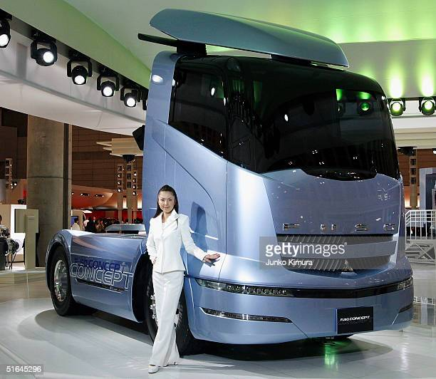 Mitsubishi FUso Truck Bus Corporation's concept car Fuso Concept is seen during the 38th Tokyo Motor Show 2004 on November 2 2004 in Makuhari Chiba...