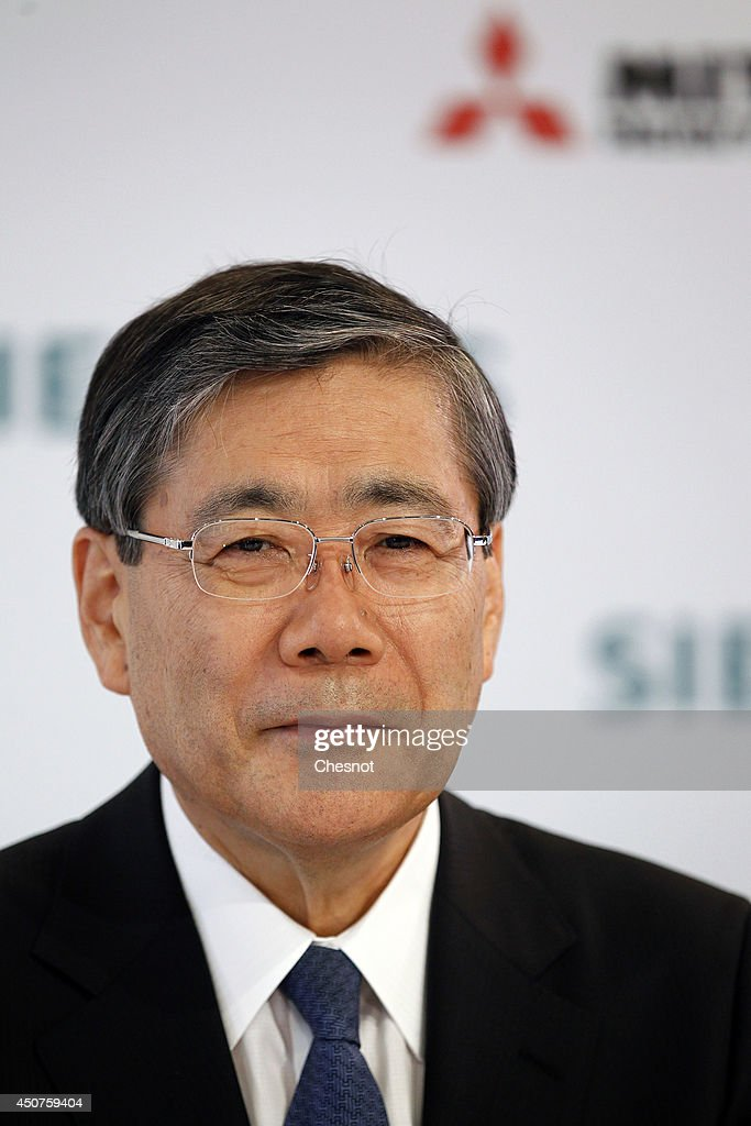 Joe KAISER, Siemens CEO And  Shunichi MIYANAGA,  Mitsubishi CEO Give Press Conference At Pavillon Gabriel
