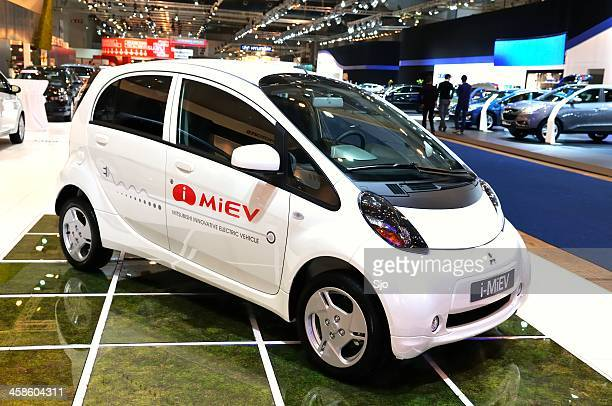mitsubishi i-miev electric car - mitsubishi group stock pictures, royalty-free photos & images
