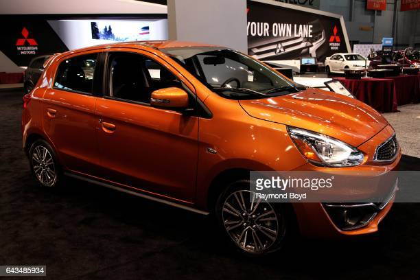 Mitsubishi Mirage GT is on display at the 109th Annual Chicago Auto Show at McCormick Place in Chicago Illinois on February 10 2017