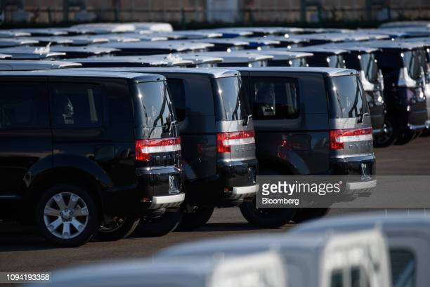 Mitsubishi Motors Corp Delica vehicles sit at the Nagoya Port in Nagoya Aichi Prefecture Japan on Friday Feb 1 2019 Auto sales got off to a frosty...