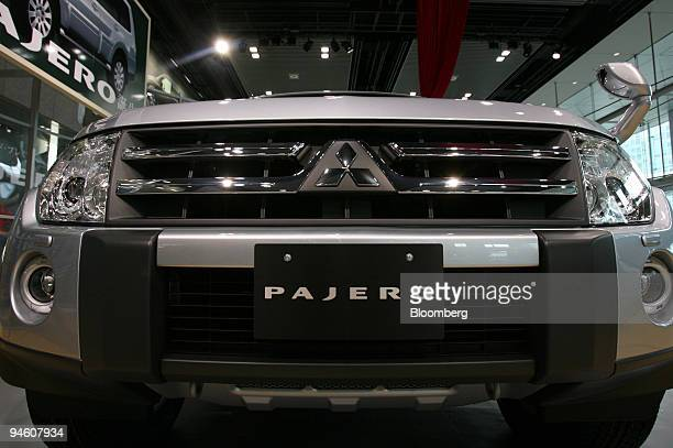 Mitsubishi Motors Corp redesigned the Pajero sportutility vehicle is displayed in the company's showroom in Tokyo Japan Wednesday October 4 2006...