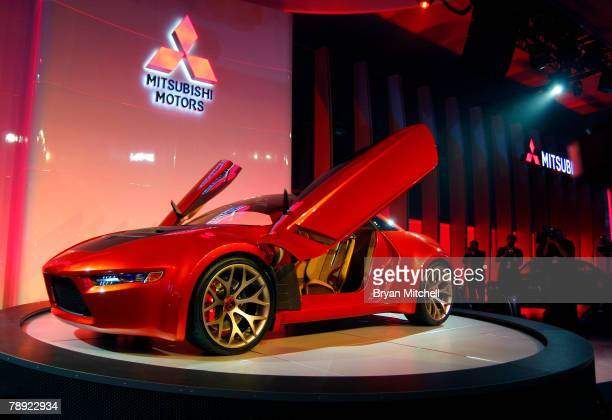 Mitsubishi Motors shows off the Concept RA to the media during the press preview days at the North American International Auto show at the COBO...