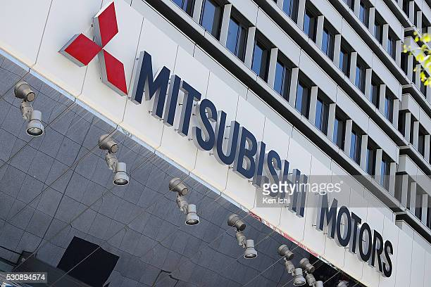 Mitsubishi Motors's logo is seen on the building on May 12 2016 in Tokyo Japan Japanese media reported that Nissan Motor confirmed that the two...