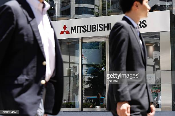 Mitsubishi Motors's logo is seen on the building on May 12, 2016 in Tokyo, Japan. Japanese media reported that Nissan Motor confirmed that the two...