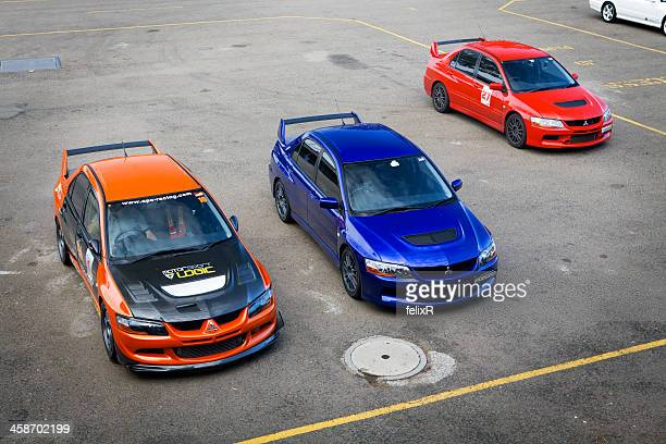 mitsubishi sport cars - mitsubishi group stock pictures, royalty-free photos & images