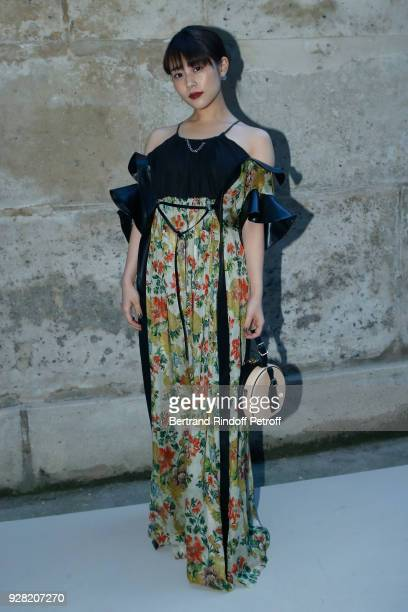 Mitsuki Takahata attends the Louis Vuitton show as part of the Paris Fashion Week Womenswear Fall/Winter 2018/2019 on March 6 2018 in Paris France