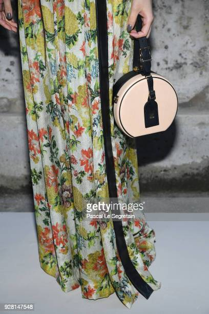 Mitsuki Takahatabag detail attends the Louis Vuitton show as part of the Paris Fashion Week Womenswear Fall/Winter 2018/2019 on March 6 2018 in Paris...