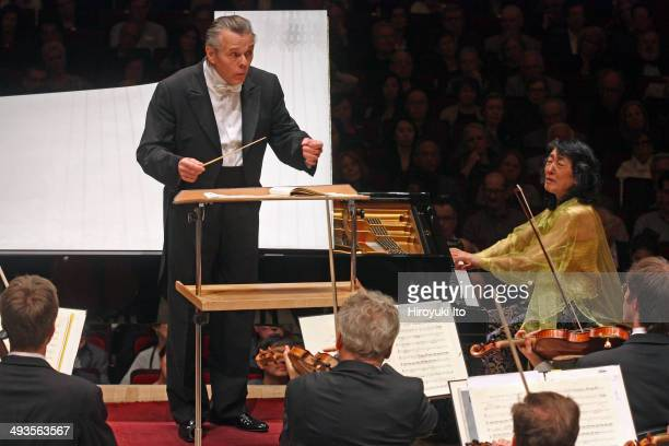 Mitsuko Uchida performing Beethoven's Piano Concerto No 4 with the Bavarian Radio Symphony Orchestra led by Mariss Jansons at Carnegie Hall on...