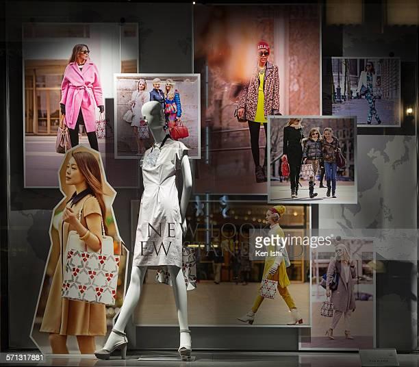 Mitsukoshi - Tokyo, window display 2014 as Part of the World Fashion Window Displays on April 19, 2014 in Tokyo, Japan.