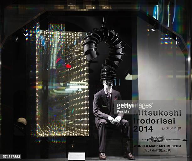 Mitsukoshi - Tokyo, window display 2014 as Part of the World Fashion Window Displays on August 26, 2014 in Tokyo, Japan.