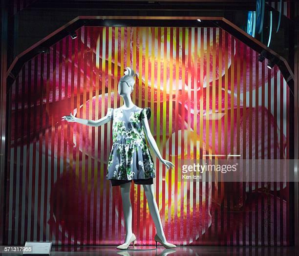 Mitsukoshi - Tokyo, window display 2015 as Part of the World Fashion Window Displays on February 16, 2015 in Tokyo, Japan.