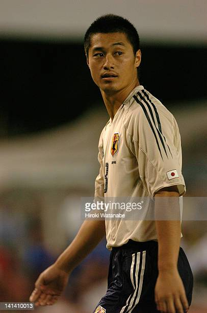 Mitsuo Ogasawara of Japan in action during the FIFA World Cup Asian Qualifier match between India and Japan at Saltlake Stadium on September 8, 2004...