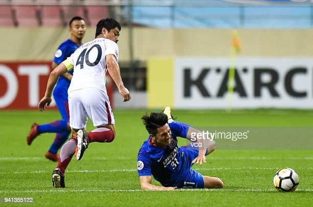 Mitsuo Ogasawara of Kashima Antlers in action during AFC Champions League Group H match between Shanghai Shenhua and Kashima Antlers at the Hongkou...