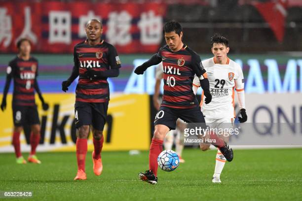 Mitsuo Ogasawara of Kashima Antlers in action during the AFC Champions League Group E match between Kashima Antlers and Brisbane Roar FC at Kashima...