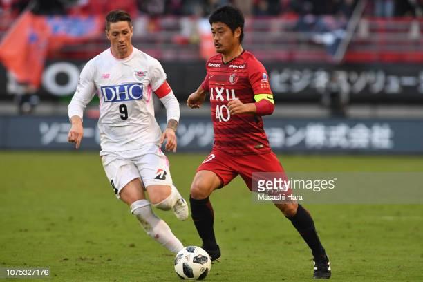 Mitsuo Ogasawara of Kashima Antlers in action during the JLeague J1 match between Kashima Antlers and Sagan Tosu at Kashima Soccer Stadium on...