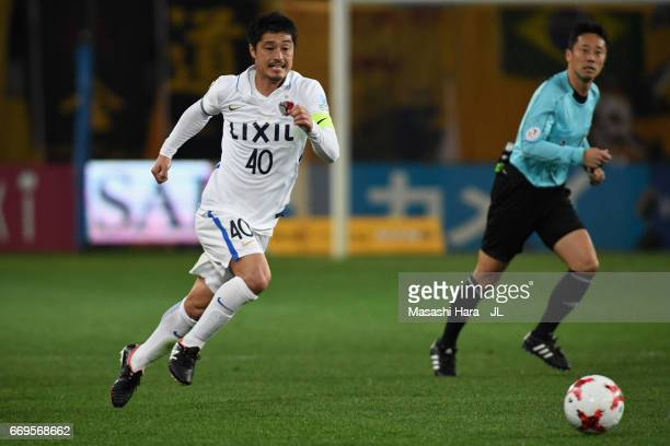 Mitsuo Ogasawara of Kashima Antlers in action during the JLeague J1 match between Vegalta Sendai and Kashima Antlers at Yurtec Stadium Sendai on...