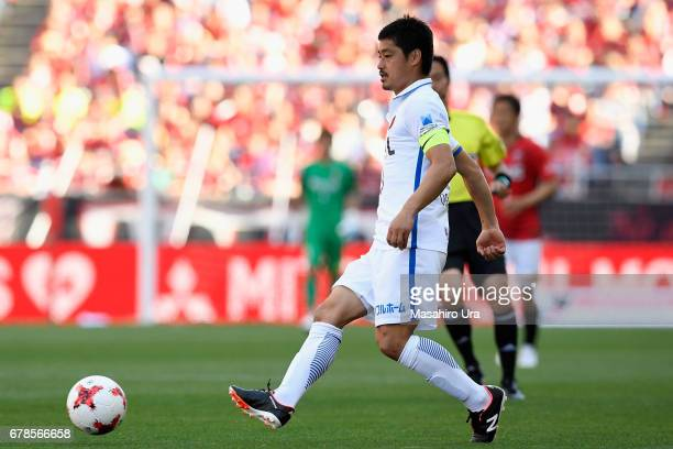 Mitsuo Ogasawara of Kashima Antlers in action during the JLeague J1 match between Urawa Red Diamonds and Kashima Antlers at Saitama Stadium on May 4...