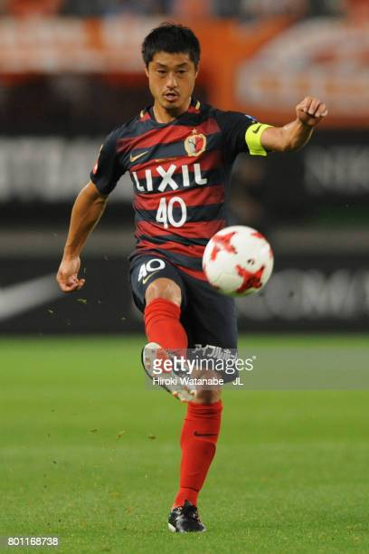 Mitsuo Ogasawara of Kashima Antlers in action during the JLeague J1 match between Kashima Antlers and Albirex Niigata at Kashima Soccer Stadium on...
