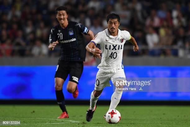 Mitsuo Ogasawara of Kashima Antlers in action during the JLeague J1 match between Gamba Osaka and Kashima Antlers at Suita City Football Stadium on...