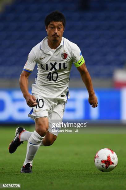 Mitsuo Ogasawara of Kashima Antlers in actoin during the JLeague J1 match between Gamba Osaka and Kashima Antlers at Suita City Football Stadium on...