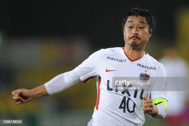 Mitsuo Ogasawara of Kashima Antlers looks on during the JLeague J1 match between Kashiwa Reysol and Kashima Antlers at Sankyo Frontier Kashiwa...
