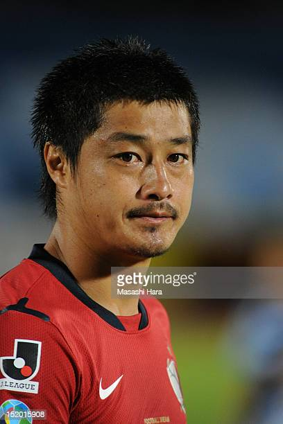 Mitsuo Ogasawara of Kashima Antlers looks on prior to the JLeague match between Kawasaki Frontale and Kashima Antlaers at Todoroki Stadium on...