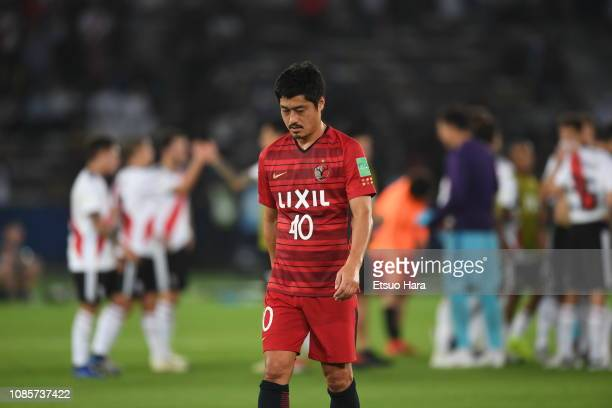 Mitsuo Ogasawara of Kashima Antlers shows dejection after the match between Kashima Antlers and River Plate as part of the 3rd Place FIFA Club World...
