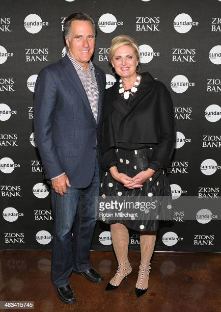 Mitt Romney and Ann Romney attend SLC Gala Reception Presented By Zions during 2014 Sundance Film Festival at Pierpont Place on January 17 2014 in...