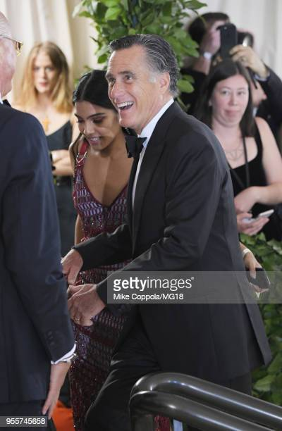 Mitt Romney attends the Heavenly Bodies Fashion The Catholic Imagination Costume Institute Gala at The Metropolitan Museum of Art on May 7 2018 in...