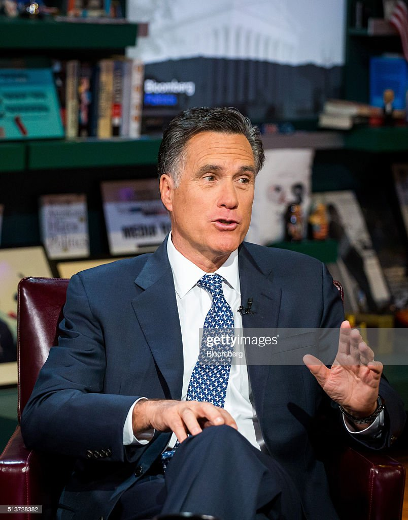 Former Republican Presidential Nominee Mitt Romney Interview : News Photo