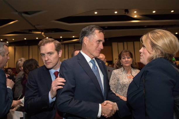 Former Massachusetts Governor Mitt Romney Speaks At Utah County - Governor of massachusetts